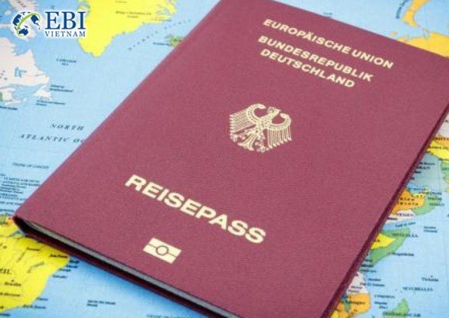 Hộ chiếu gia hạn visa Đức.