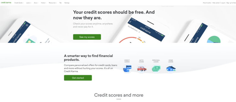 Keep up your credit score and check it with credit karma