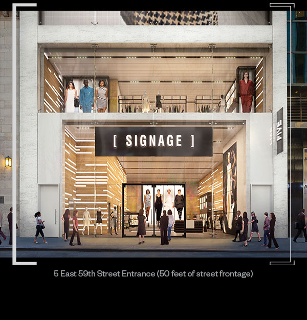 5 East 59th Street Entrance (50 feet of street frontage)