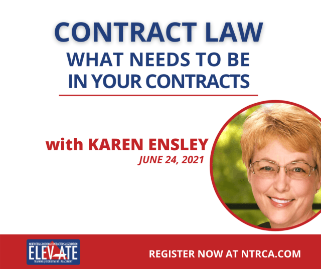 contract law NTRCA Event