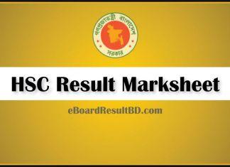 HSC Result Marksheet 2018