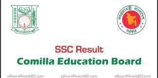 SSC Result 2018 Comilla Education Board