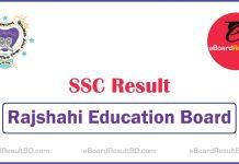 SSC Exam Result Rajshahi Education Board