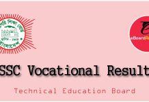 SSC Vocational Result 2018