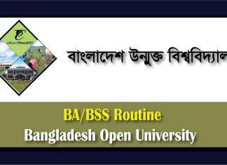 Bangladesh Open University BA/BSS Routine