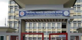 Jhenaidah Veterinary College Admission Circular