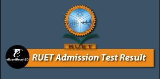 RUET Admission Test Result