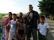 Kids enjoy hanging out with WBCP member, Harry Miller