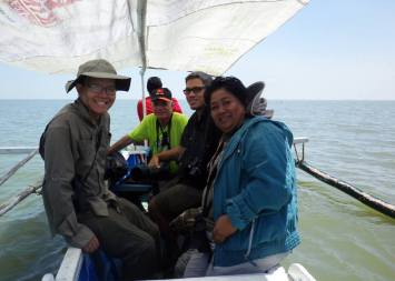 Setting sail in the waters of Manila Bay in Bataan with Arne Jensen, Mads Bajarias and Cristina Cinco