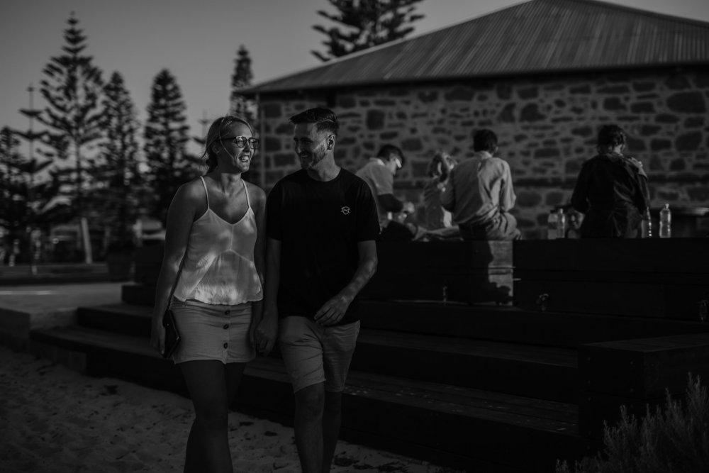 Aaron+Lauren   Fremantle Engagement Photography   Freo Beach   Ebony Blush Photography  Fremantle Pre-Wedding Photography