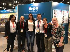 Ebonye Gussine Wilkins with the IBPA Staff at Book Expo America 2017