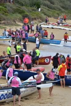 teams prepare - so much pink