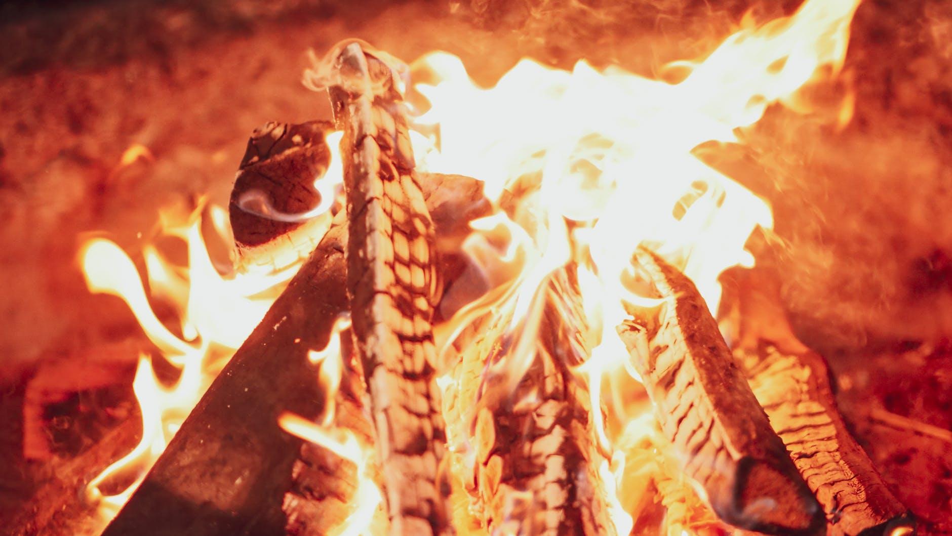 close up photo of a bonfire