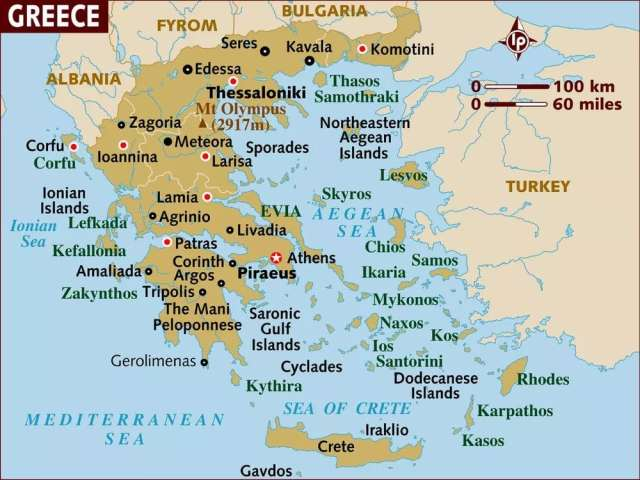 Download Map of Greece Greece Map and Satellite Image Political Map of Greece