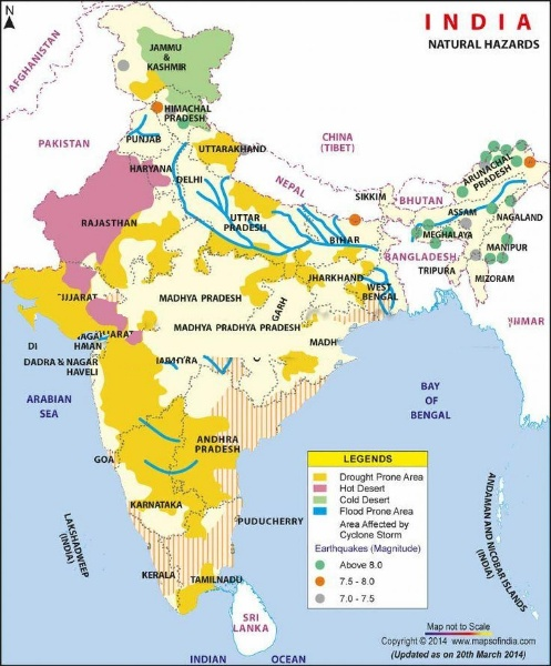 Thematic Map of India Outline