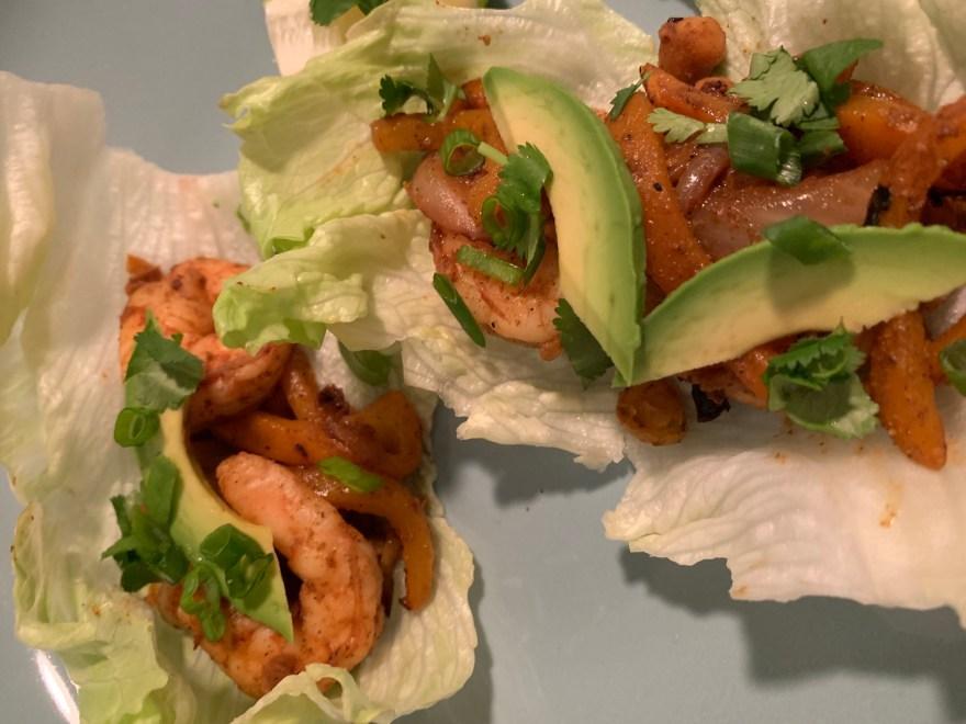 Quick Shrimp Fajitas