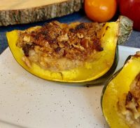 Cherry & Pecan Stuffed Acorn Squash
