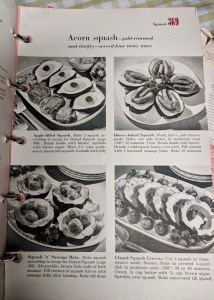 Betty Crocker Cookbook, 1960 vintage. Acorn Squash