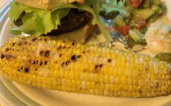 Grilled corn with mayo, lime and cumin