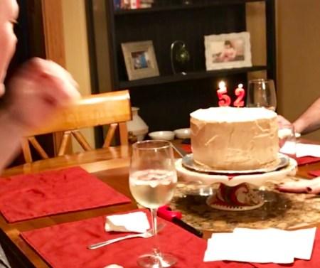 grandmas banana layered cake with coffee buttercream