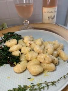 Creamy Lemon Gnocchi with sautéed Swiss Chard