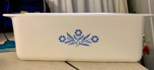 Moms Corn Flower Pyrex Loaf Pan