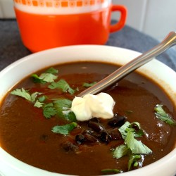 Sopa Tarasca Black Bean Tomato Soup