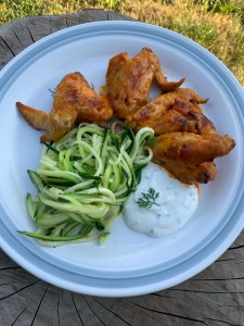 Instant Pot Hot Wings with Zoodles