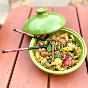 Easy Fried Rice with Fresh Garden Veggies