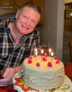 Happy Birthday espresso banana cake