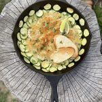 Spicy Lime Shrimp Skillet with Zucchini