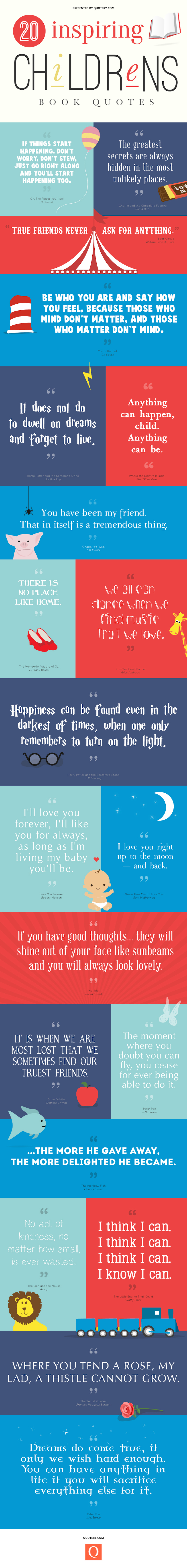 20 inspiring childrens book quotes infographic
