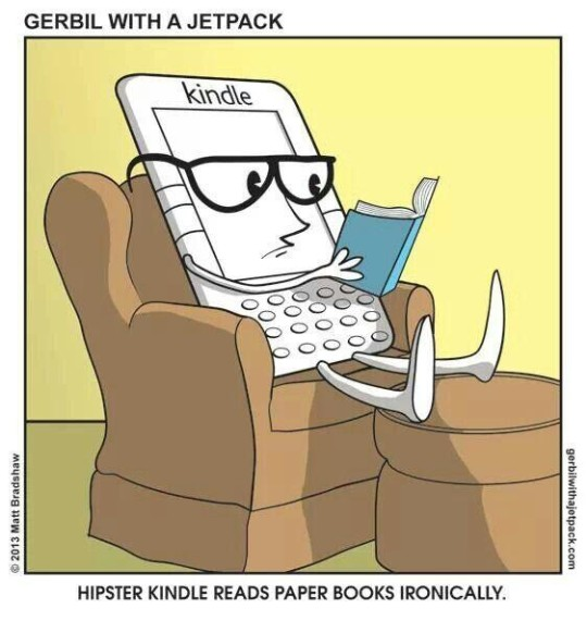 Hipster Kindle