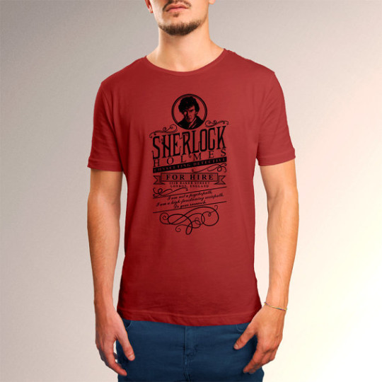 Sherlock Holmes for Hire T-shirt