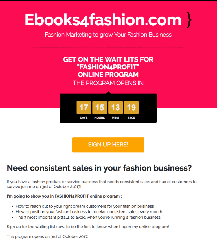 Fashion4Profit Online program and challenge