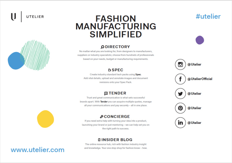 How to manage a fashion business: Utelier
