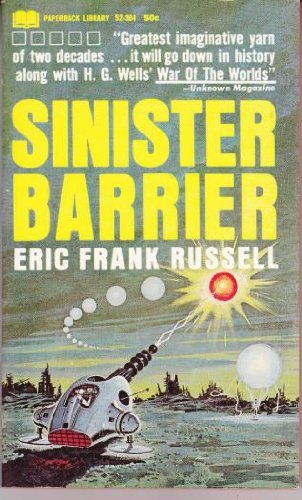 Large book cover: Sinister Barrier