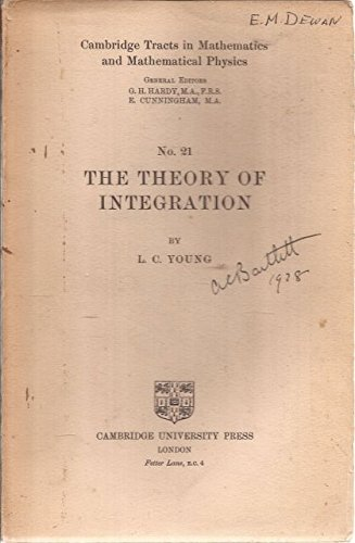 Large book cover: The Theory Of Integration