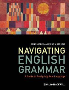 download Navigating English Grammar: A Guide to Analyzing Real Language