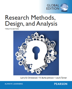 Research Methods, Design, and Analysis - 12th Edition (Global)