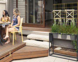 Podium triPots pour aménager sa terrasse