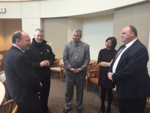 Chief Cowan and Area Law Enforcement Leaders meet Honorable SJC Chief Gants