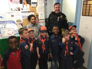 Cub Scout Pack 28 Tigers visit the East Bridgewater Police Station