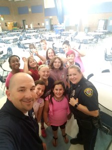 East Bridgewater Police have lunch with the Students
