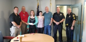 Local Teenager Honored at Police Station by Cops for Kids With Cancer