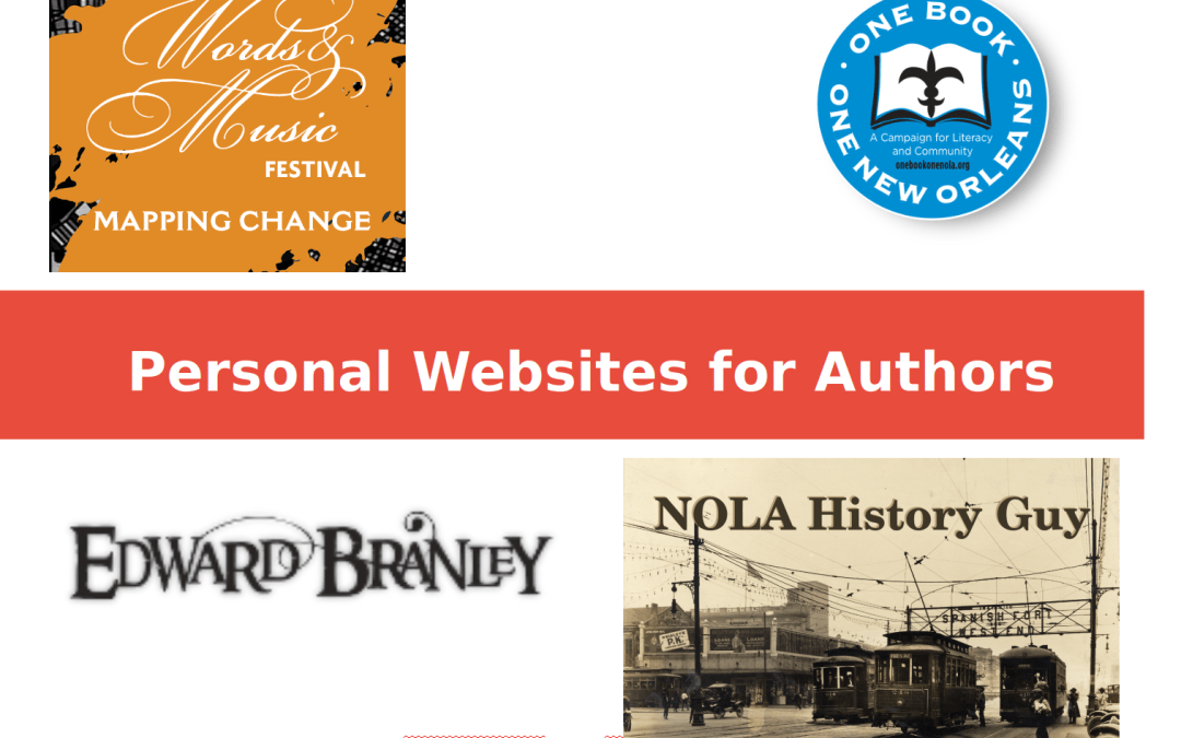 Words and Music New Orleans Talk – Personal Websites for Authors