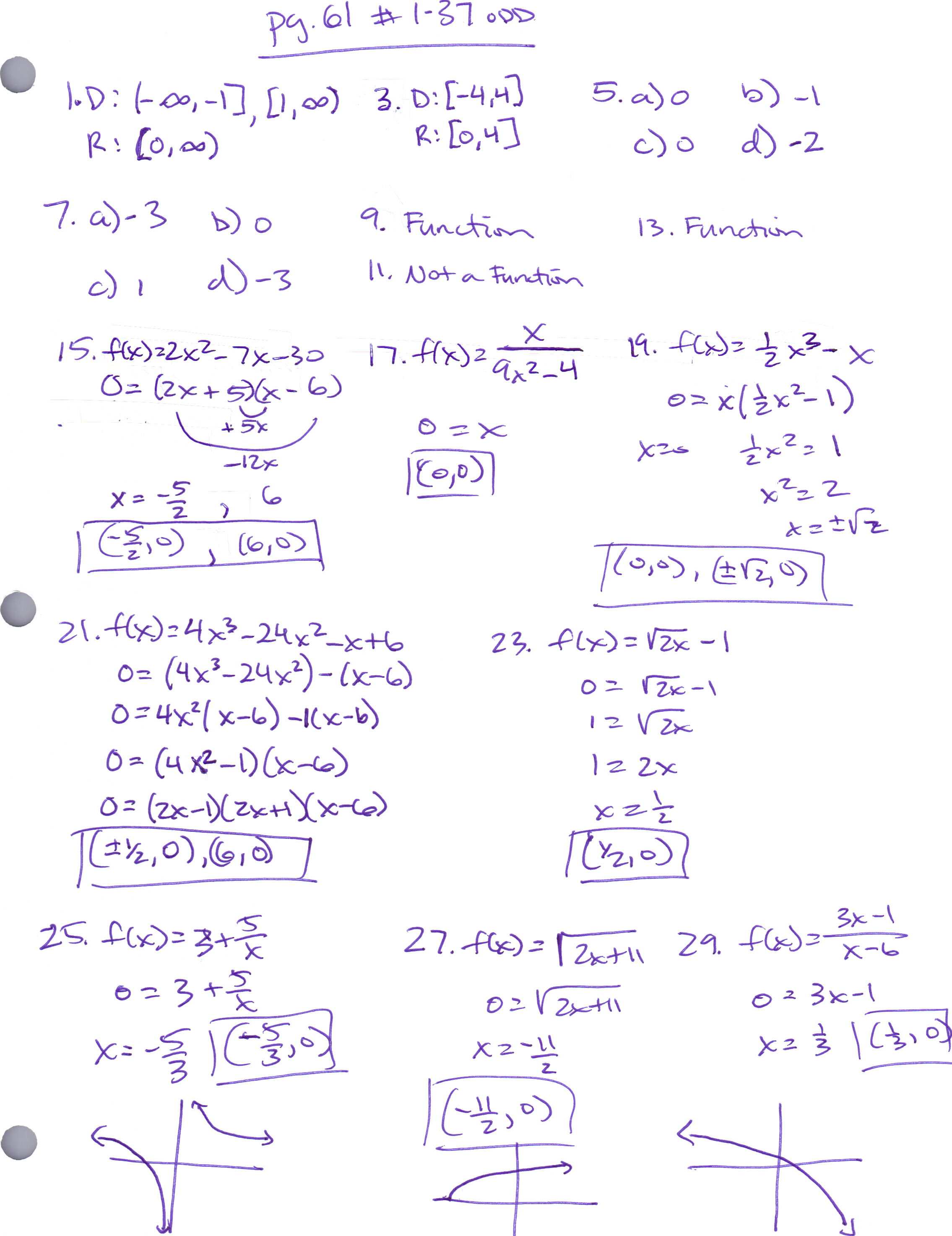 Pictures Precalculus Review Worksheets