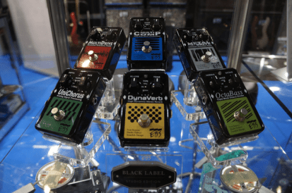 The new Studio Edition of EBS Black Label Pedals for bass.