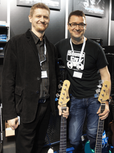 Ales Vychodil (bass builder) and Keith Duffy (w Ronan Keating/The Corrs etc).