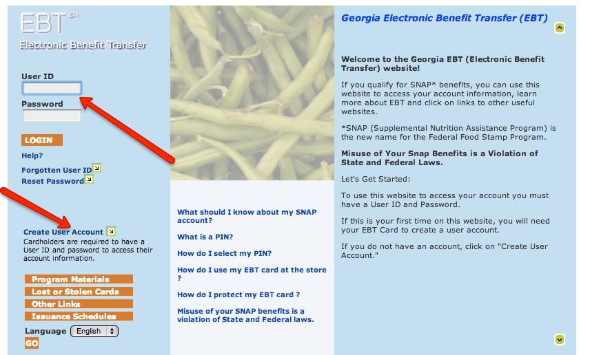 """Georgia EBT Card Balance Check"""